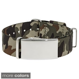 Stainless Steel Men's Camouflage Identification Bracelet