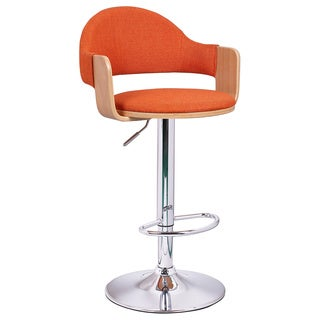 Adeco Beech Red Low Back Adjustable Chair