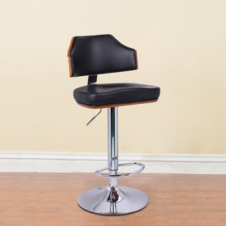 Adeco Walnut Off-black Low Back Adjustable Chair