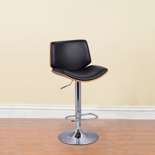 Adeco Walnut Off-black High Back Adjustable Chair