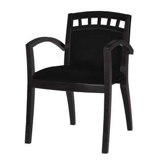 Mayline Mercado Series Black Wood Upholstered Guest Seat