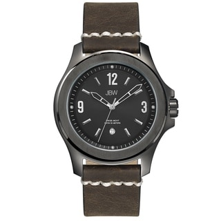 JBW Men's 'The Grove' Brown Leather Watch