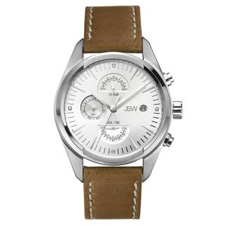 JBW Men's 'The Woodall' Light Brown Leather Watch