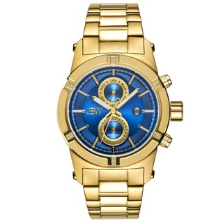 JBW Men's 18k Goldplated Multifunction Diamond Watch