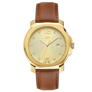 JBW Women's J6301A Chelsea Analog Display Swiss Quartz Brown Watch