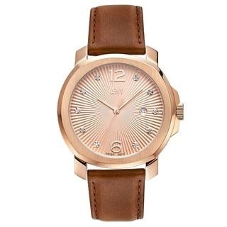 JBW Women's J6301B Chelsea Analog Display Swiss Quartz Brown Watch