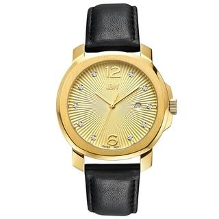 JBW Women's J6301D Chelsea Analog Display Swiss Quartz Black Watch