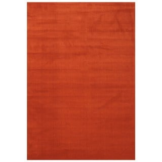 Maxy Home Collection Solid Terracotta Orange Single Color Area Rug (7'11 x 9'10)
