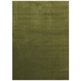 Maxy Home Collection Solid Sage Green Single Color Area Rug (7'11 x 9'10)