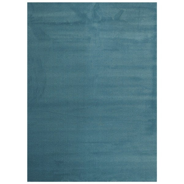 Maxy Home Collection Solid French Blue Single Color Area Rug (7'11 x 9'10)
