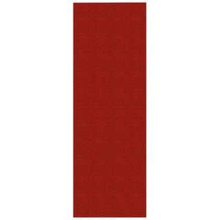 Solid Red Rubber Back Non-Slip Long Runner Rug (2'8 x 9'10)