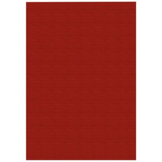 Solid Red Rubber Back Non-Slip Area Rug (3'3 x 5') - 3'3 X 5'