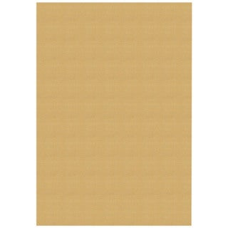 Solid Ivory Rubber Back Non-Slip Area Rug (5' x 6'6)