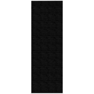 Solid Black Rubber Back Non-Slip Long Runner Rug (2'8 x 9'10)