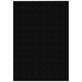 Solid Black Rubber Back Non-Slip Area Rug (5' x 6'6)