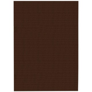 Solid Brown Rubber Back Non-Slip Area Rug (6'7 x 9'3)