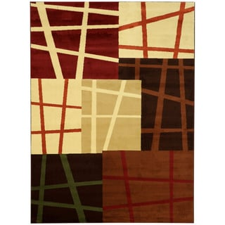 Maxy Home Abstract Squares Area Rug (7'11 x 9'10)