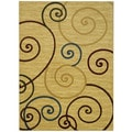 Maxy Home Ivory French Swirl Area Rug (7'11 x 9'10)