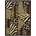Maxy Home Tiger Leopard Animal Patchwork Area Rug (7'11 x 9'10)