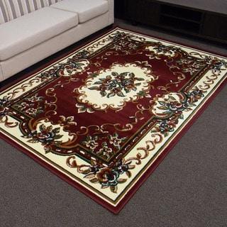 TajMahal 117 Burgundy Oriental Area Rug (5' x 7')