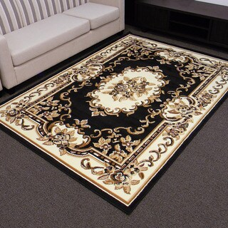 TajMahal 117 Black Oriental (5' x 7')
