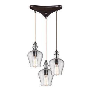 Elk Lighting 'Menlow Park' 3-light Bronze Chandelier