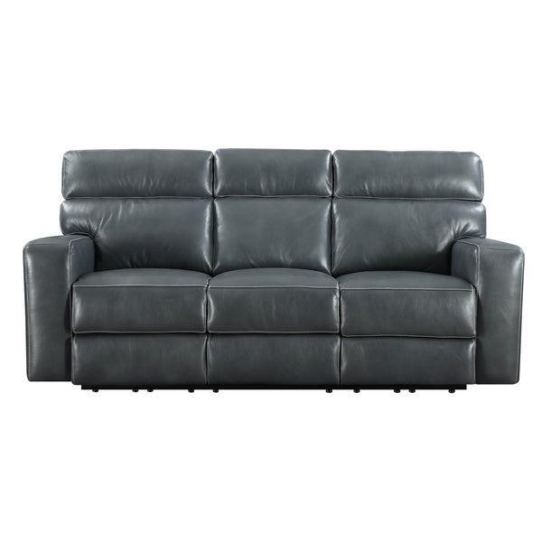 emerald blue leather match power dual reclining sofa On blue leather reclining sofa