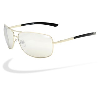 Piranha Men's 'Manhattan' Mirrored Aviator Sunglasses