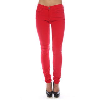 Gridlock Women's Red Studded-pocket Corduroys
