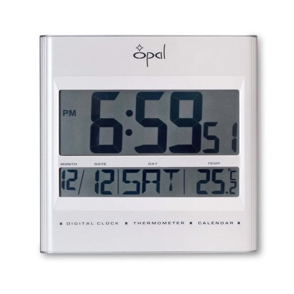 Opal LCD Table Clock with Foldable Stand