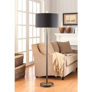 Gold Foil Lined 2-light Floor Lamp
