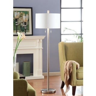 Silver Foil Lined 2-light Floor Lamp