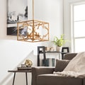 Gold Leaf Moroccan 4-light Chandelier