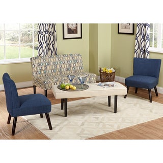 Simple Living Nolan 3-piece Loveseat and Chairs Set