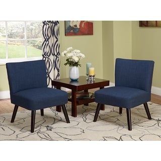Simple Living Delilah Navy Accent Chairs (Set of 2)