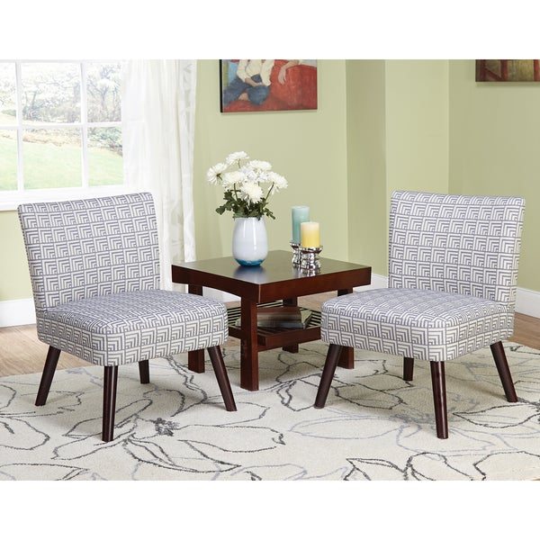 Simple Living Delilah Grey Print Accent Chairs Set Of 2