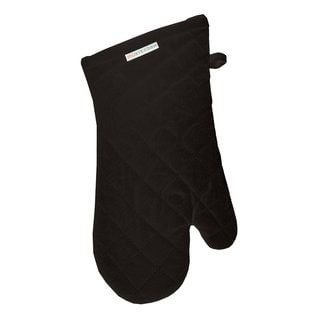 MUkitchen 6004-0908 Black Cotton Oven Mitt