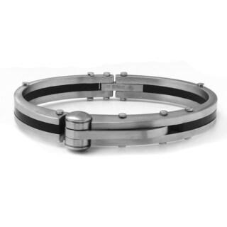 Men's Two-tone Stainless Steel Bangle Bracelet
