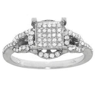 K.C. 10k White Gold 3/8ct TDW White Diamond Ring (G-H, I1-I2)
