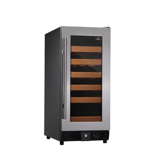 KingsBottle 25-Bottle Compressor Single-temp Full Glass Door Wine Cooler