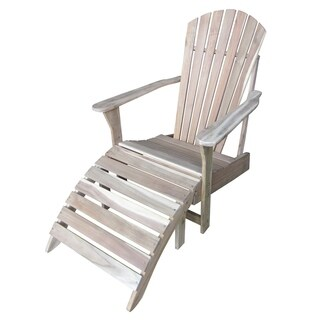 2-piece Adirondack Chair with Footrest Set