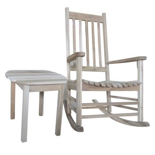 2-piece Porch Rocker with Side Table Set