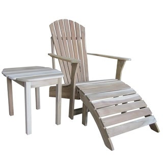 Adirondack 3-piece Chair and Side Table Set