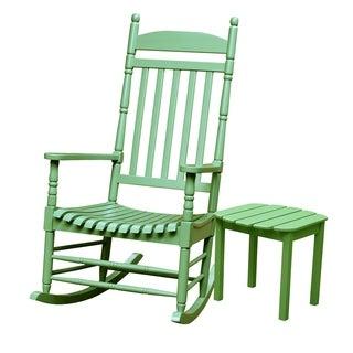 Moss 2-piece Porch Rocker and Table Set