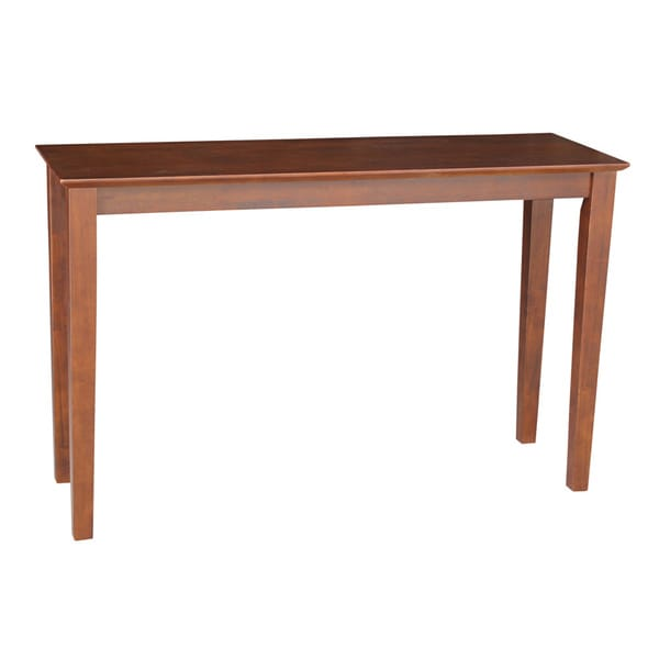 48 inch espresso console table overstock shopping for Sofa table 48 inches