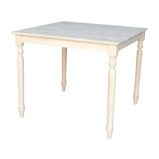 Unfinished Square 30-inch Shaker-style Solid Wood Dining Table