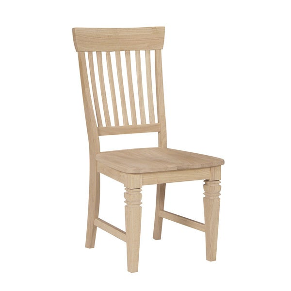 unfinished solid parawood tall java dining chairs set of