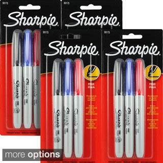 Sharpie Fine Point Assorted Permanent Markers (Pack of 12 or 24)
