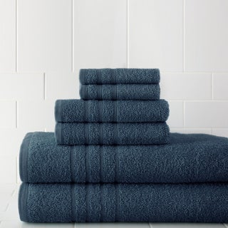 Luxurious Combed Cotton 6-piece Towel Set