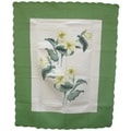 Lily Flower 100-percent Cotton Throw Blanket